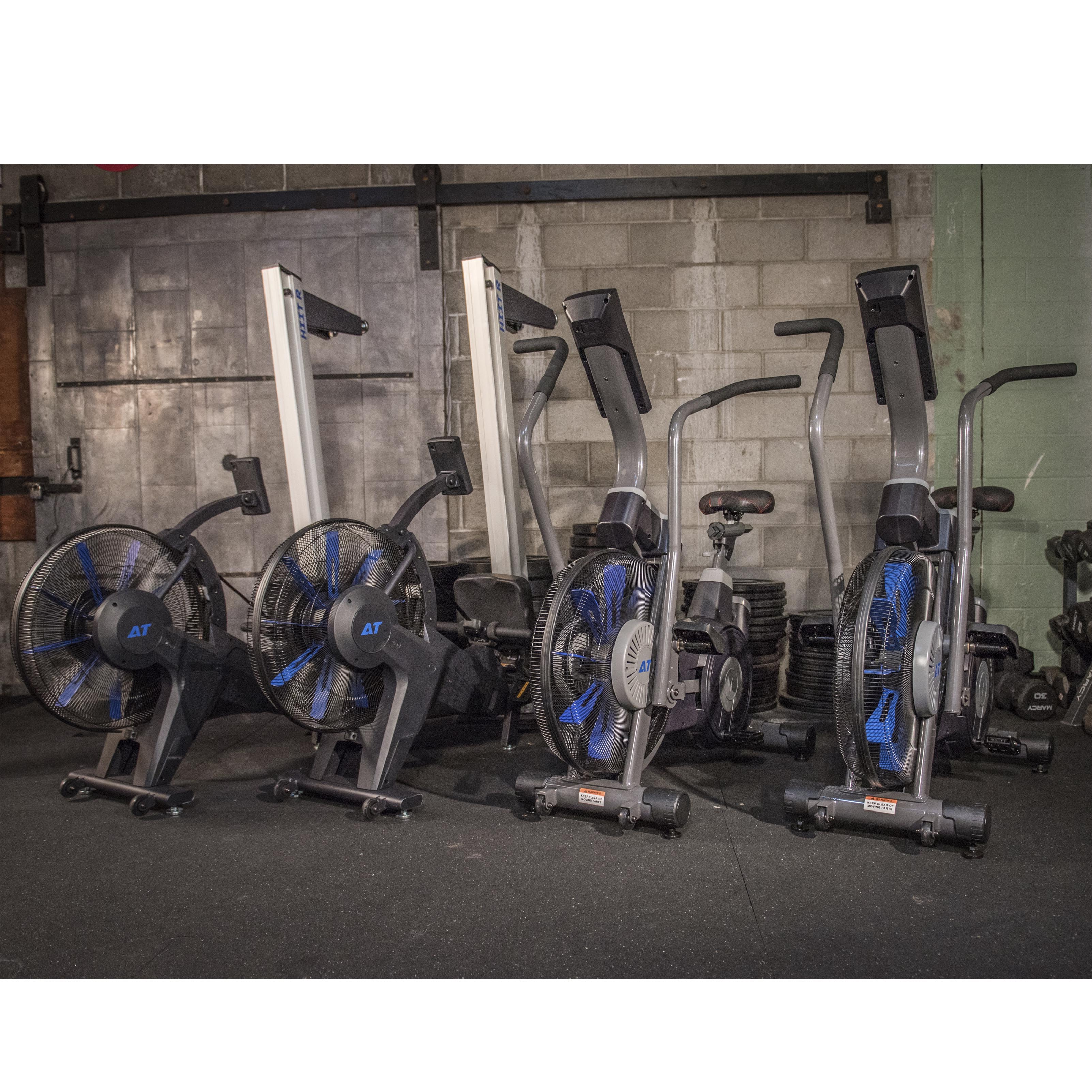 AirTEK Fitness HIIT AirBike and Rower for Gyms