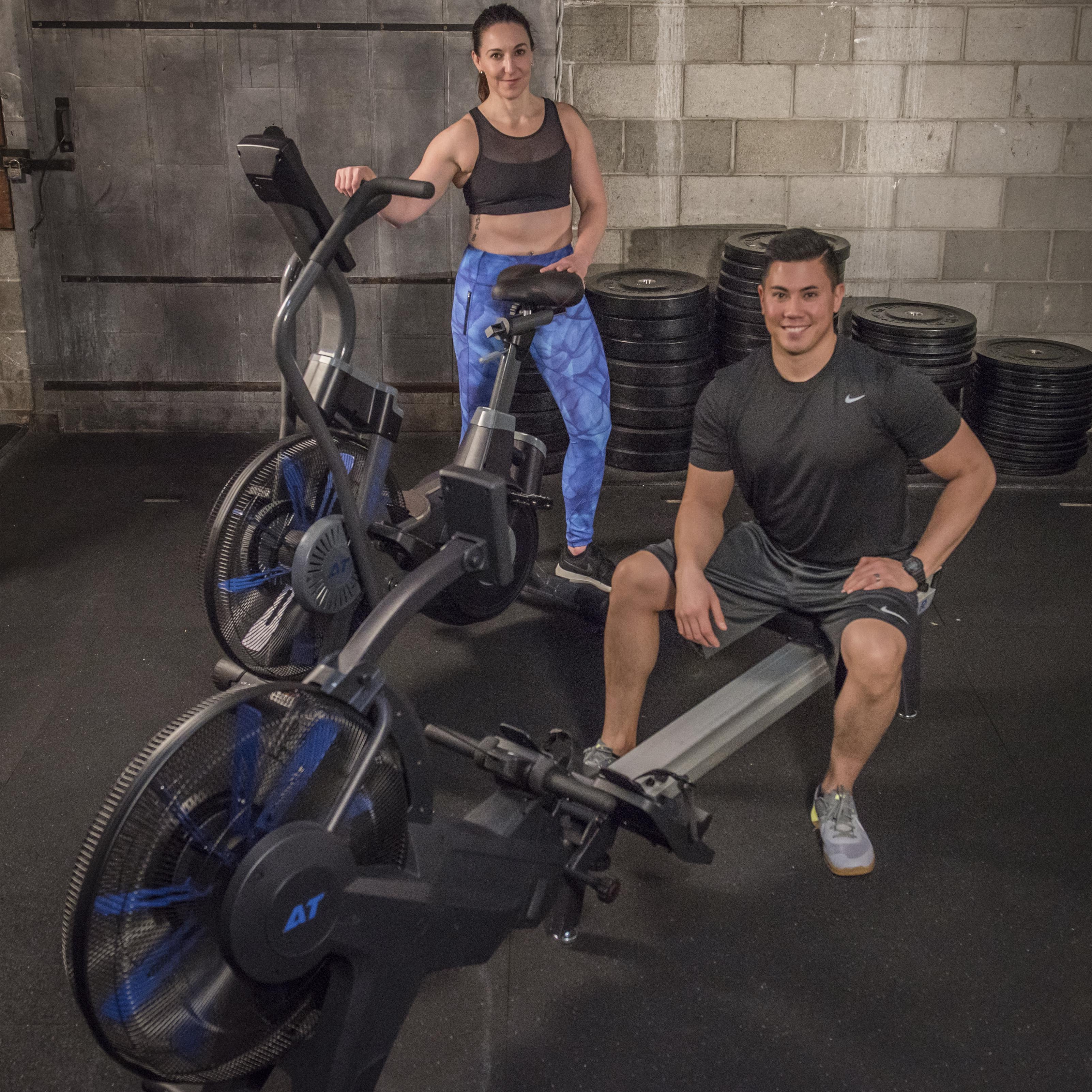 AirTEK Fitness HIIT Air and Magnetic Rower and AirBike