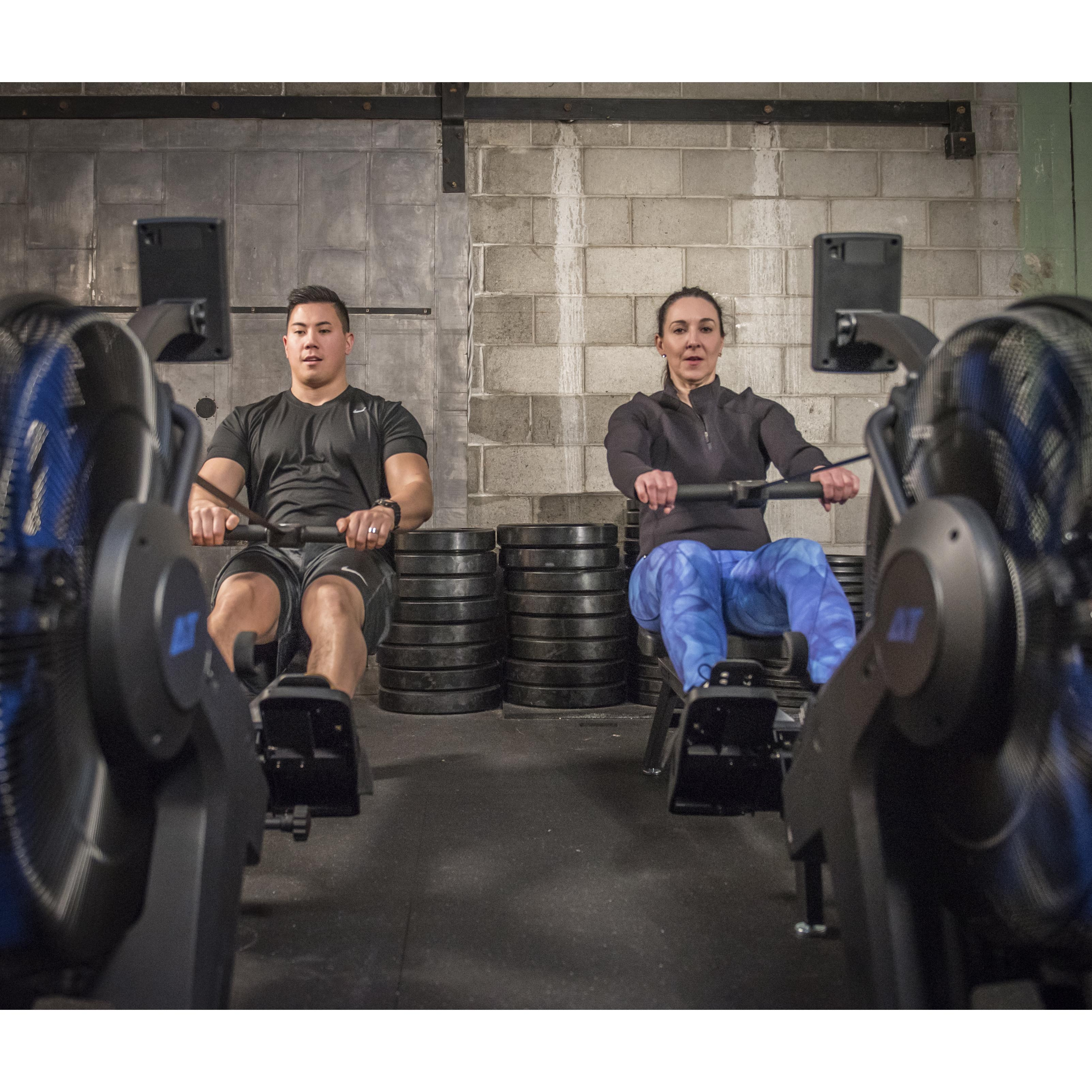 AirTEK Fitness HIIT Air and Magnetic Rower Group Rowing