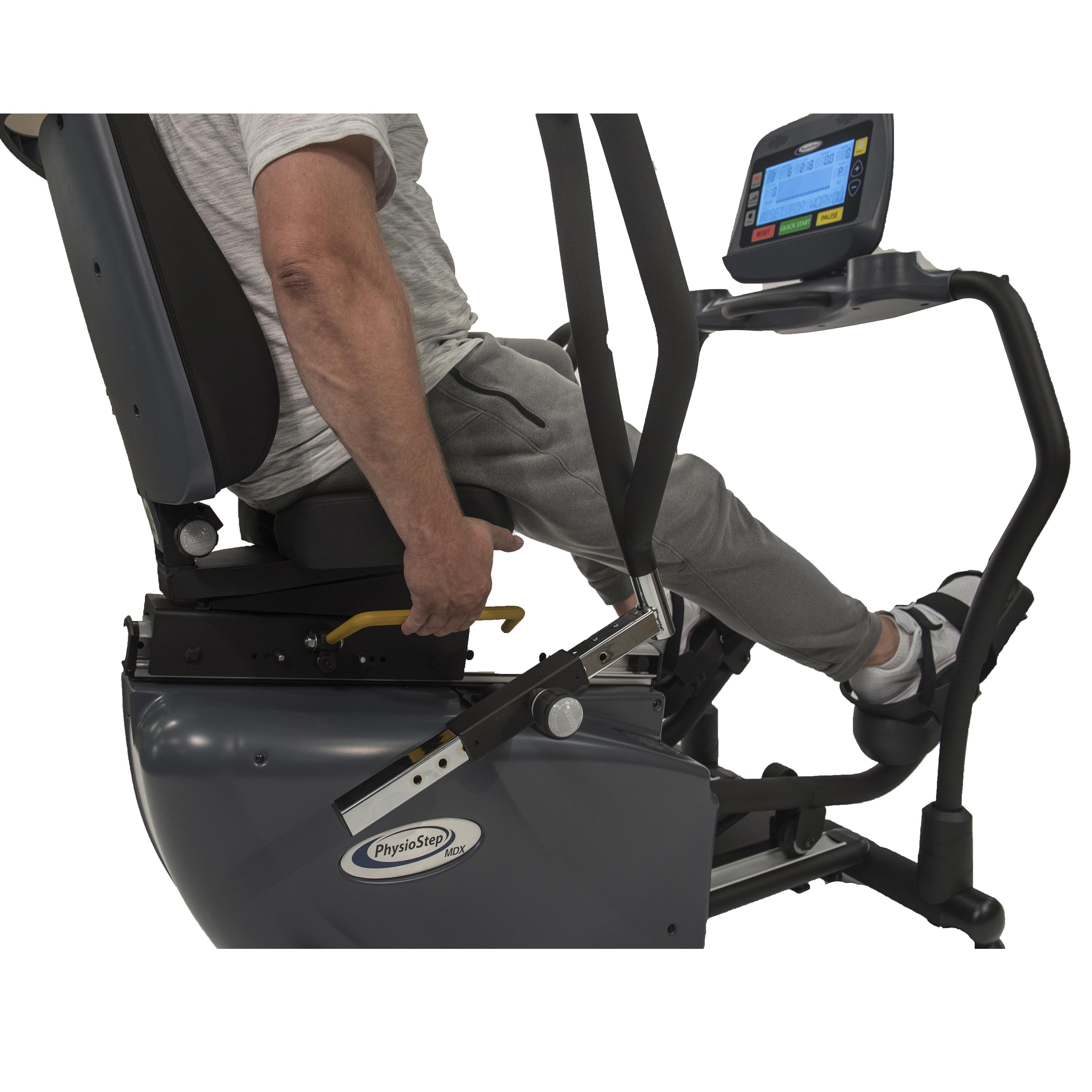 PhysioStep MDX Recumbent Elliptical Seat Adjustments