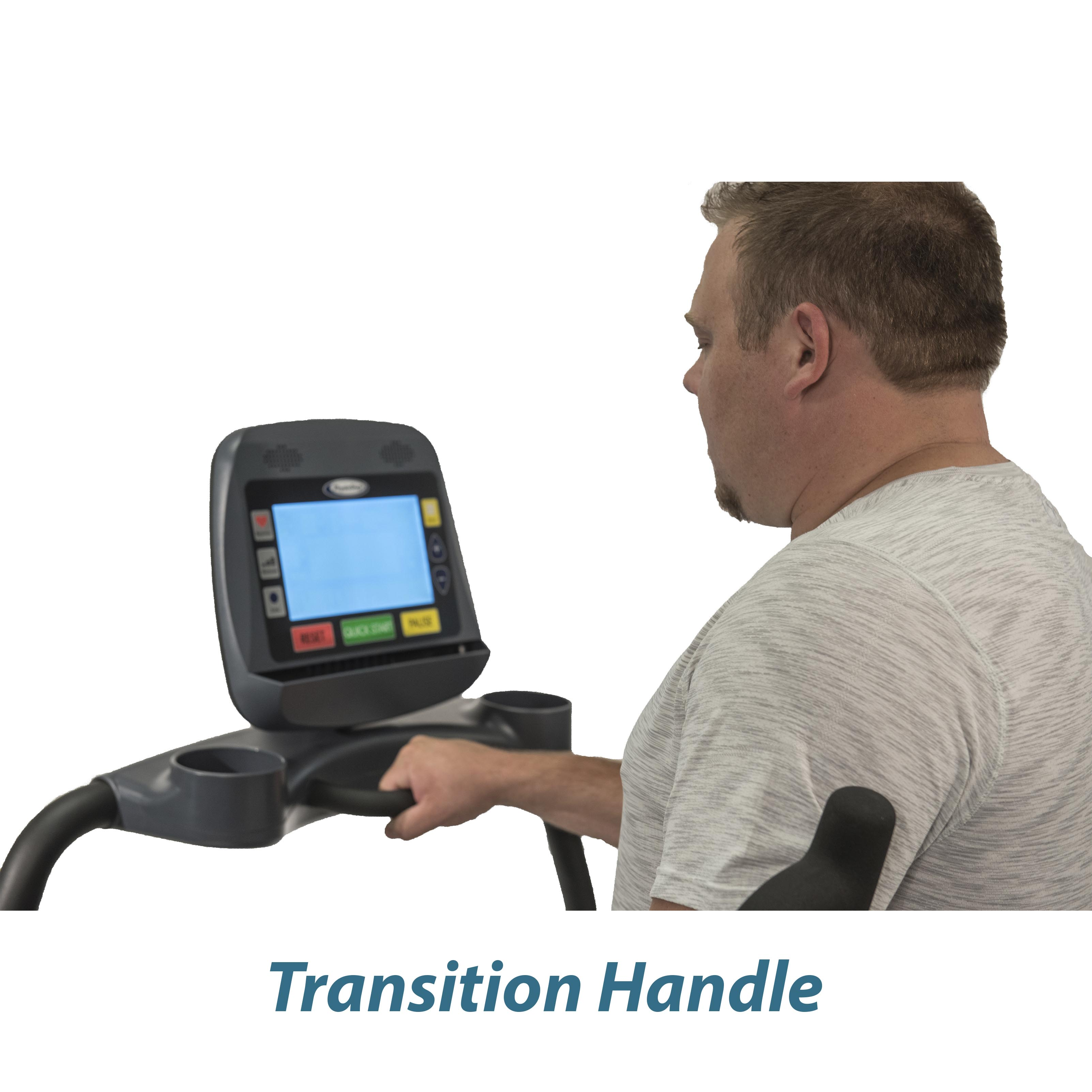 PhysioStep MDX Recumbent Elliptical Transition Handle