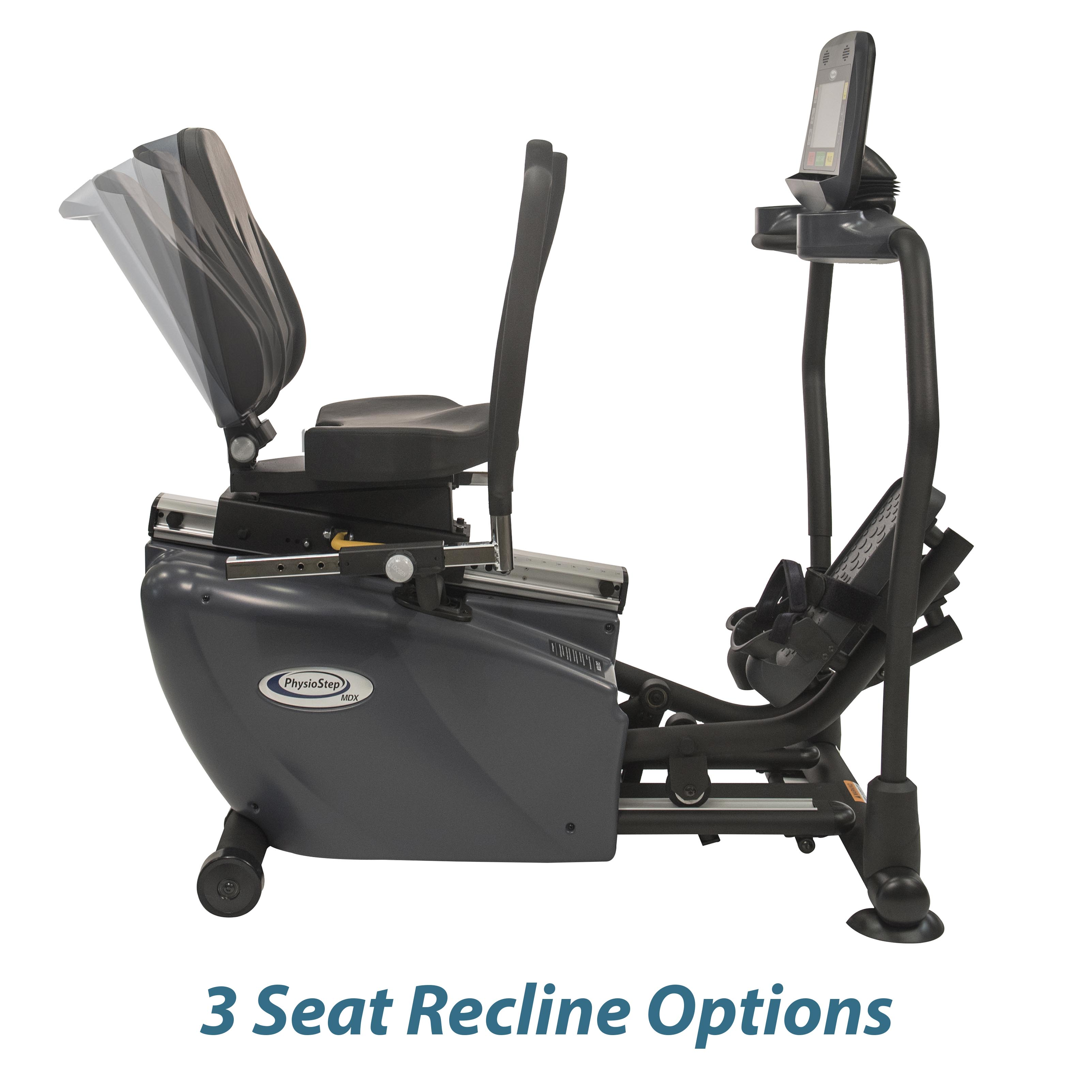 PhysioStep MDX Recumbent Elliptical Seat Recline