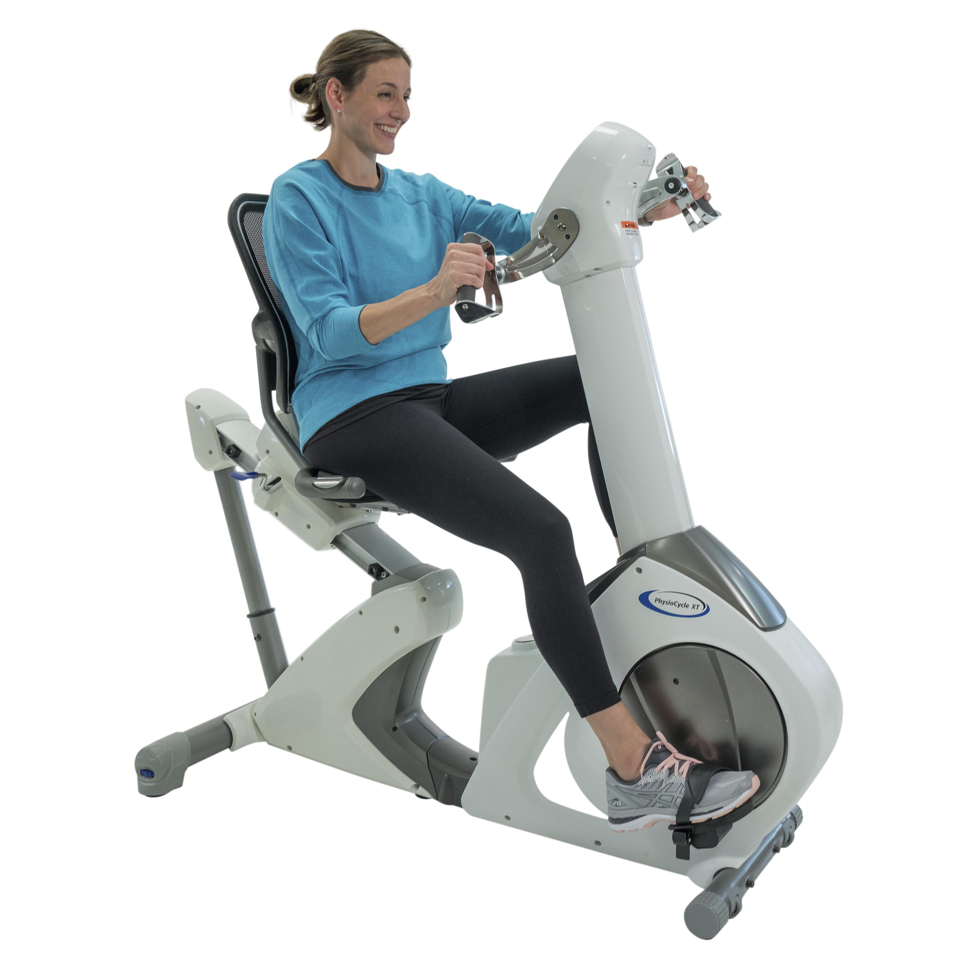 PhysioCycle XT In Use Recumbent Total Body Exercise Bike